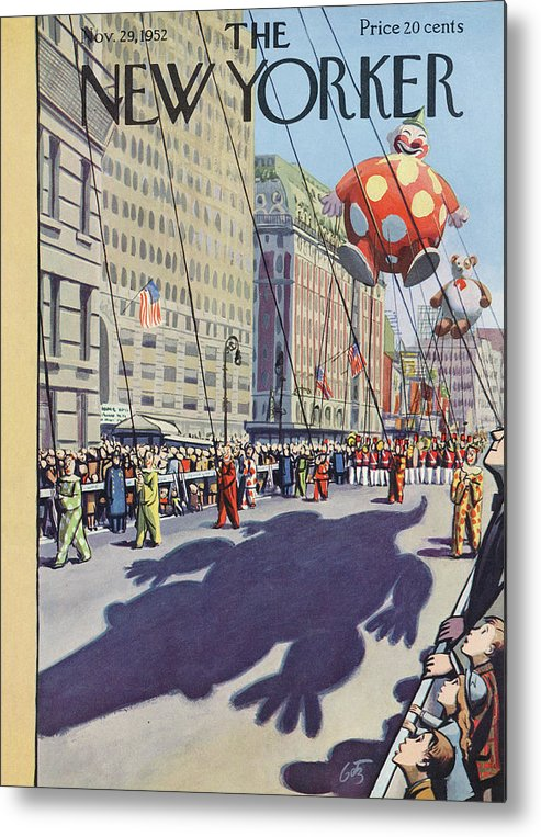 Party Metal Print featuring the painting New Yorker November 29th, 1952 by Arthur Getz