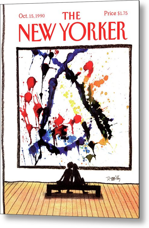 Art Metal Print featuring the painting New Yorker October 15th, 1990 by Donald Reilly