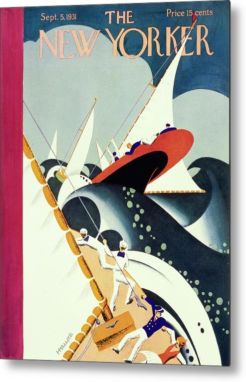 Illustration Metal Print featuring the painting New Yorker September 5 1931 by Theodore G Haupt