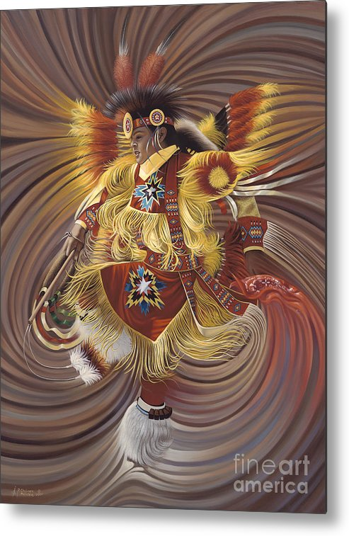 Sacred Metal Print featuring the painting On Sacred Ground Series 4 by Ricardo Chavez-Mendez