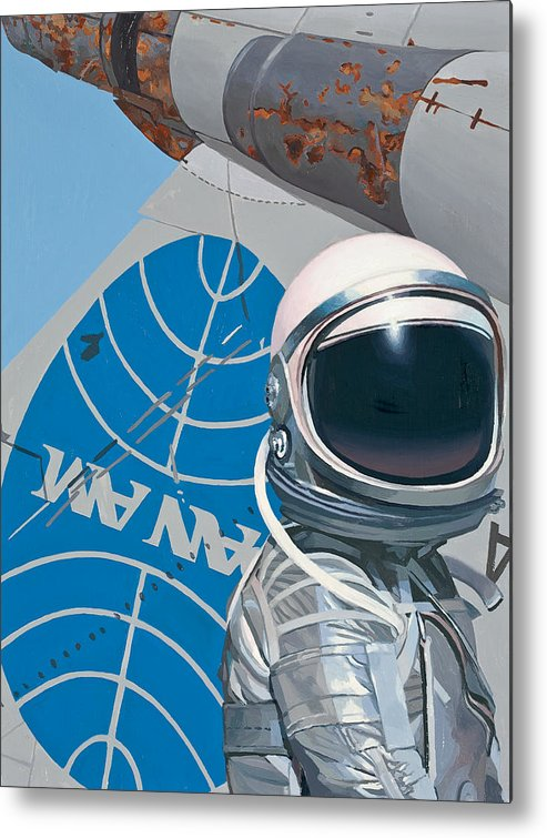Art Metal Print featuring the painting Pan Am by Scott Listfield