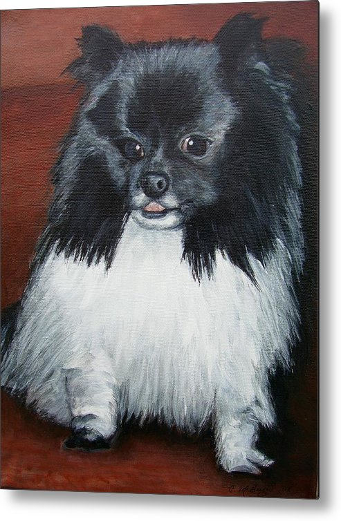 Dog Metal Print featuring the painting Peanut by Cathy McGregor