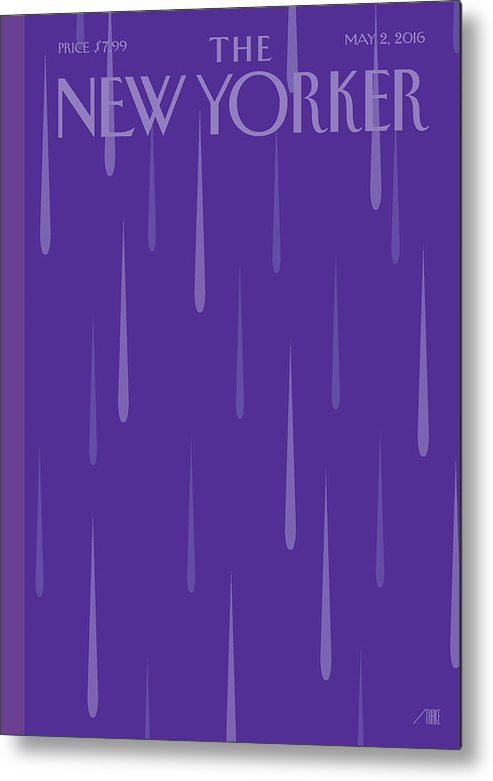 Prince Metal Print featuring the painting Purple Rain by Bob Staake