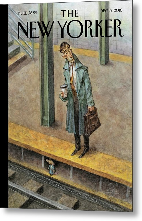 Mice Metal Print featuring the painting Rat Race by Peter de Seve