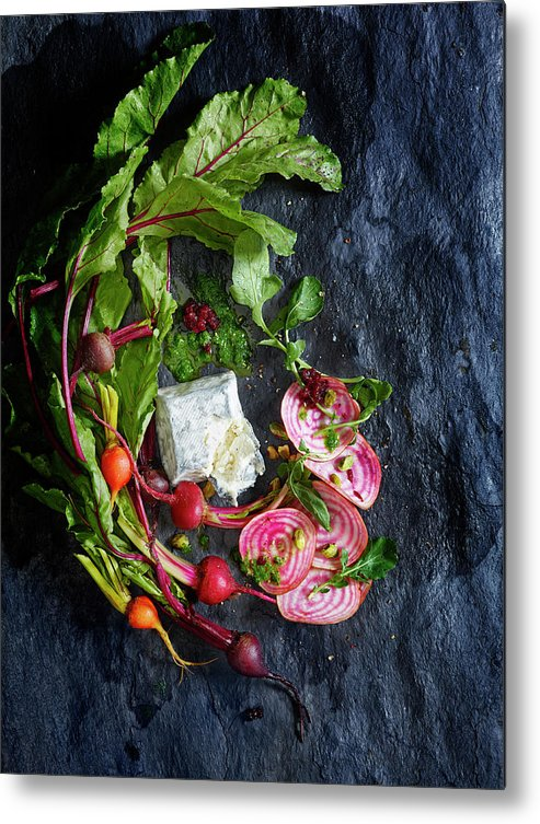 Cheese Metal Print featuring the photograph Raw Beeet Salad Ingredients by Annabelle Breakey