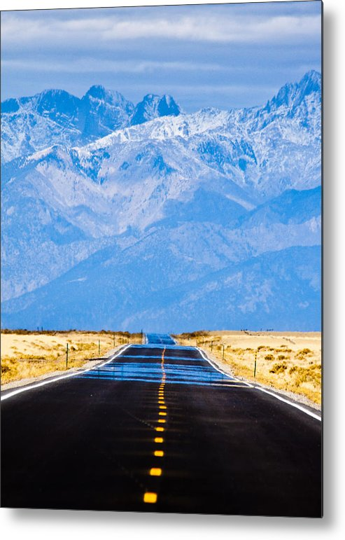 Mountains Metal Print featuring the photograph Road to the Mountains by Alexis Birkill