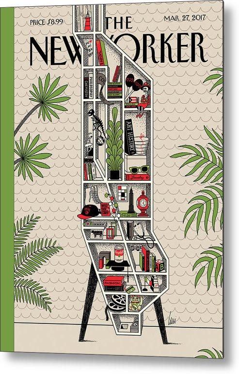 Shelf Life Metal Print featuring the painting Shelf Life by Luci Gutierrez