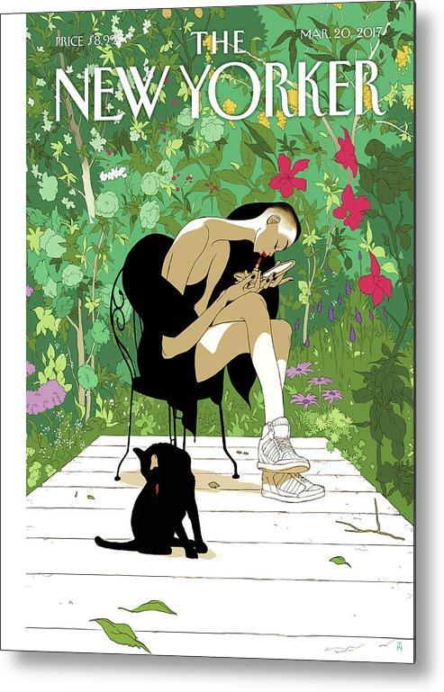 Spring Awakening Metal Print featuring the painting Spring Awakening by Tomer Hanuka