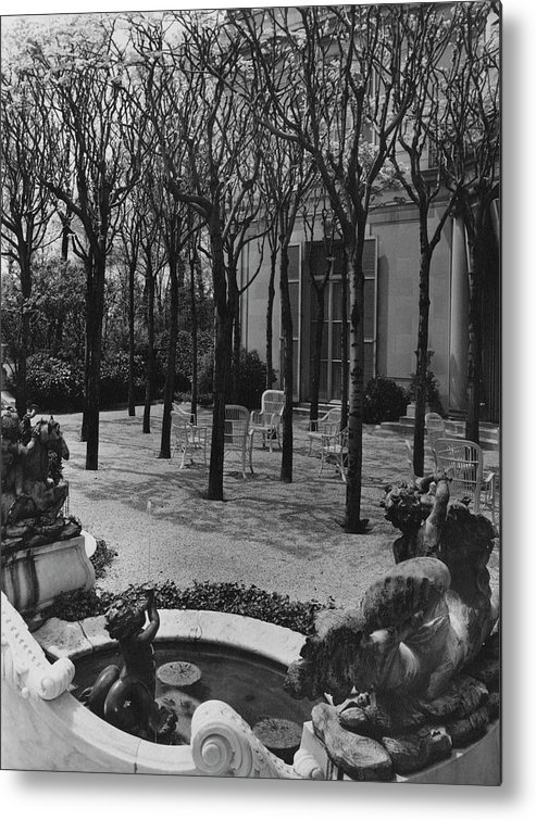 Exterior Metal Print featuring the photograph The Garden Of A Home In Meridian Hill by Carola Rust