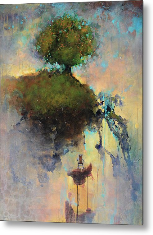 Joshua Smith Metal Print featuring the painting The Hiding Place by Joshua Smith