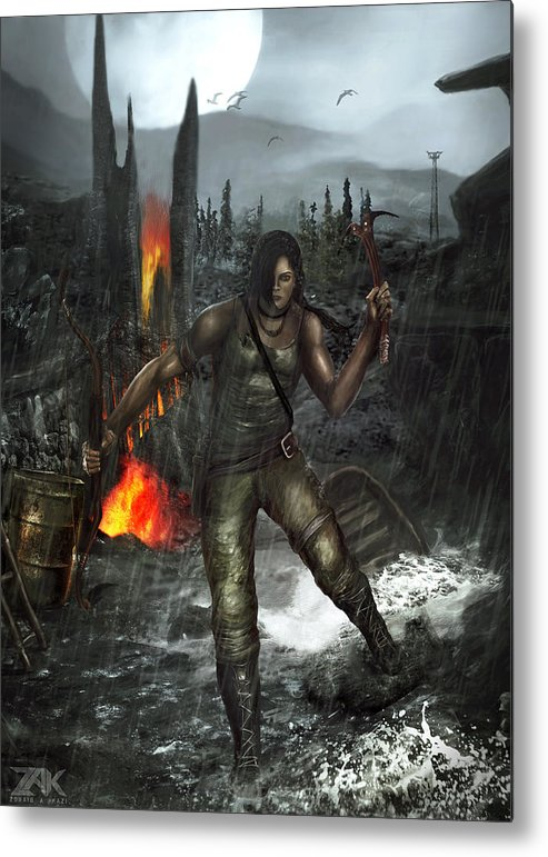 Lara Croft Tomb Raider 2015 16 Metal Print By Zak Kz