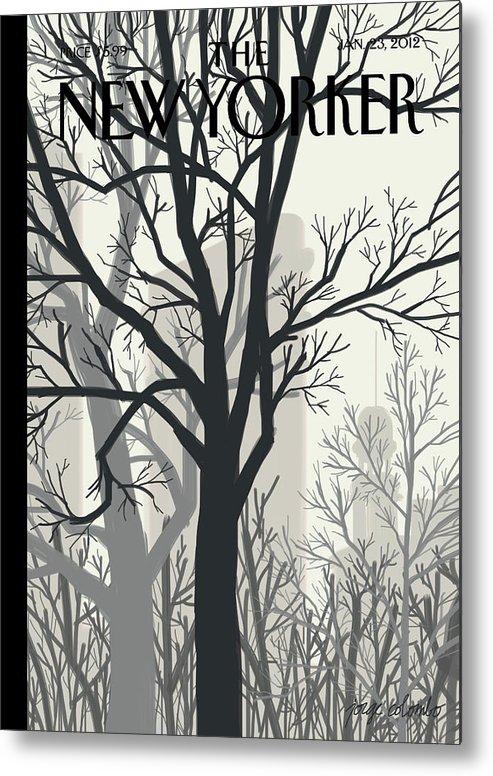 Sunlight On Twenty-third Street Metal Print featuring the painting Sunlight on Twenty-third Street by Jorge Colombo