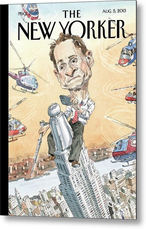 Penis Metal Print featuring the painting New Yorker August 5th, 2013 by John Cuneo