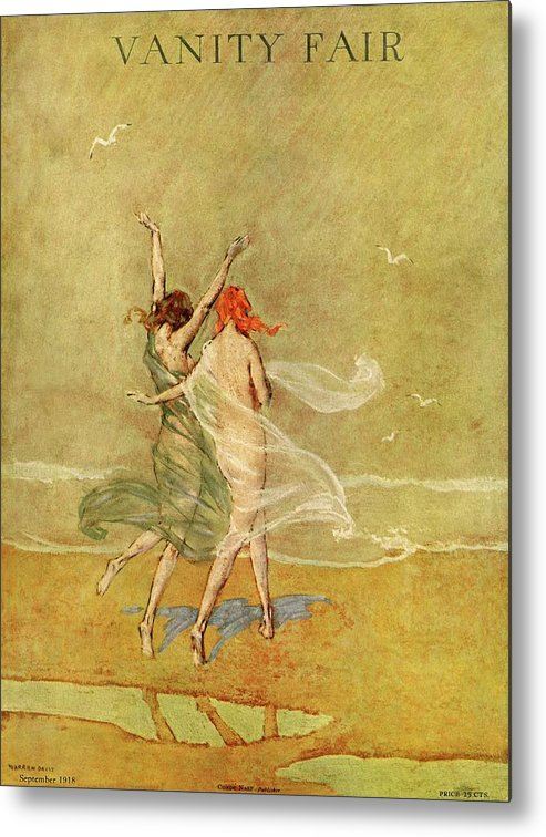 Illustration Metal Print featuring the photograph Vanity Fair Cover Featuring Two Nymphs by Warren Davis