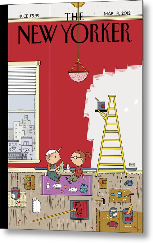 Paint Metal Print featuring the painting Warmth by Ivan Brunetti