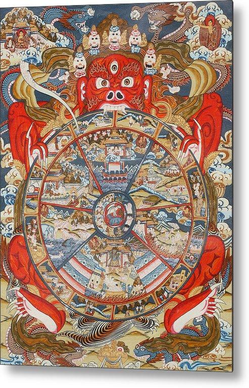 Wheel Of Life Or Wheel Of Samsara Metal Print By Unknown