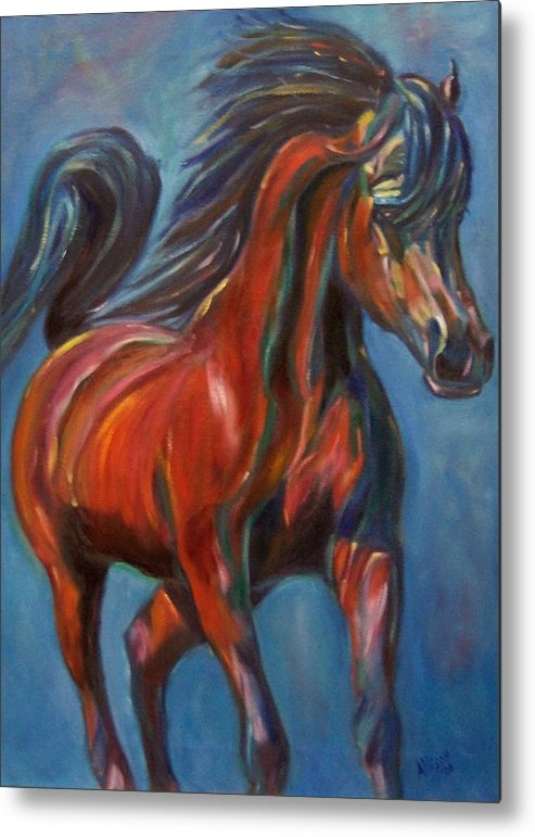 Horse Metal Print featuring the painting Windstalker by Stephanie Allison