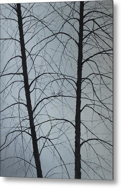 Winter Trees Metal Print featuring the painting Aging by Roger Calle