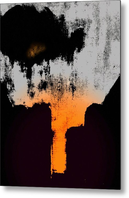 Abstract Metal Print featuring the digital art Echo by Joseph Ferguson