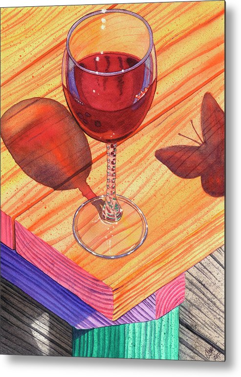 Wine Metal Print featuring the painting Pinot Noir by Catherine G McElroy
