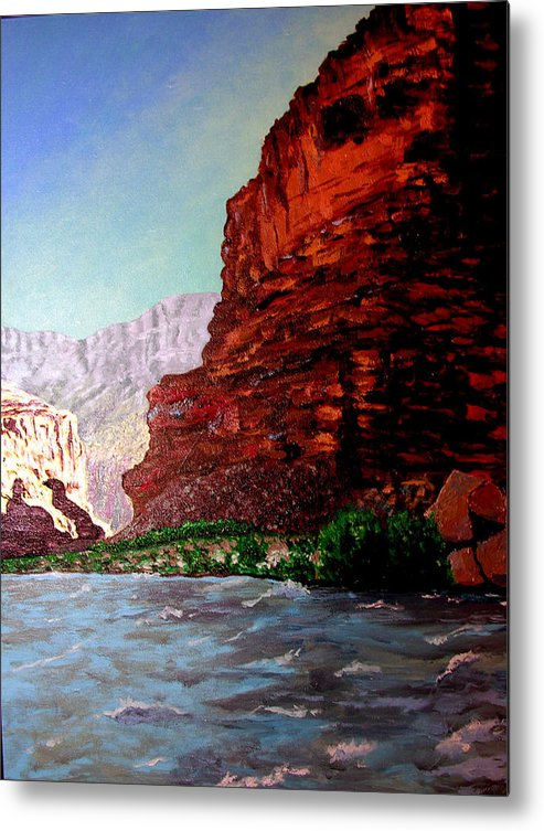 Grand Canyon Metal Print featuring the painting Grand Canyon II by Stan Hamilton