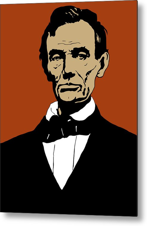 Abraham Lincoln Metal Print featuring the mixed media President Lincoln by War Is Hell Store