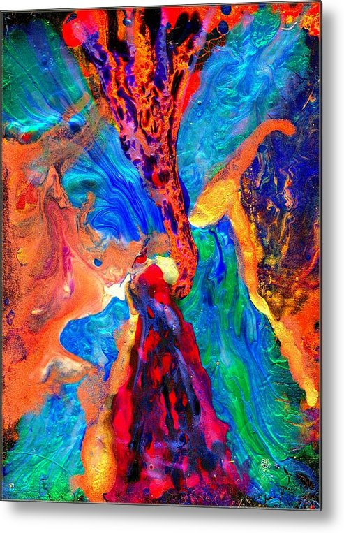 Abstract Metal Print featuring the painting Abstract - Evolution Series 1004 by Dina Sierra