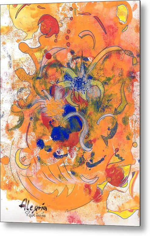 Alegria Metal Print featuring the mixed media Alegria by Michael Puya