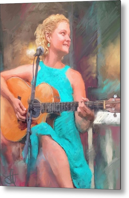 Amy Endrucsin Metal Print featuring the digital art Amy by Scott Waters