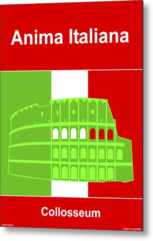 Anima Italiana Metal Print featuring the digital art Anima Italiana by Asbjorn Lonvig