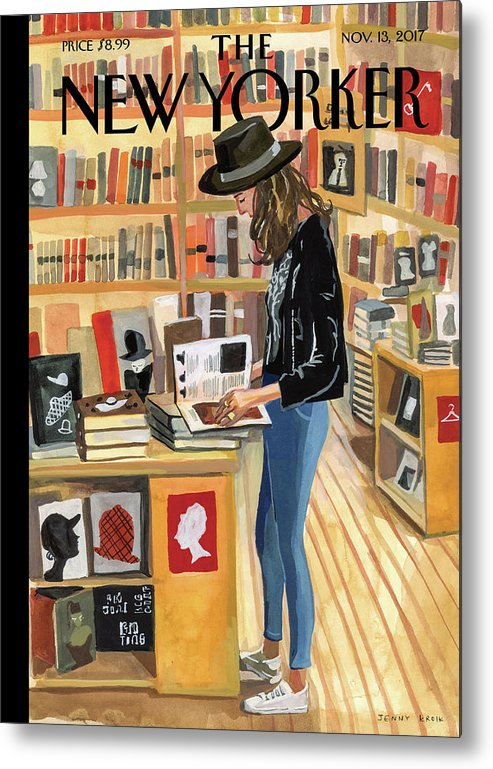At The Strand Metal Print featuring the painting At The Strand by Jenny Kroik