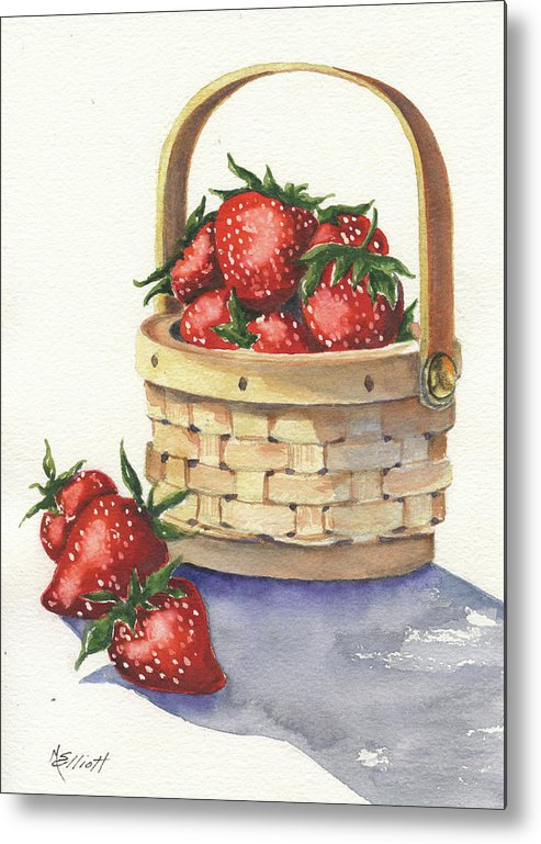 Berry Metal Print featuring the painting Berry Nice by Marsha Elliott