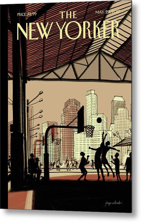 Brooklyn Bridge Park Metal Print featuring the digital art Brooklyn Bridge Park by Jorge Colombo