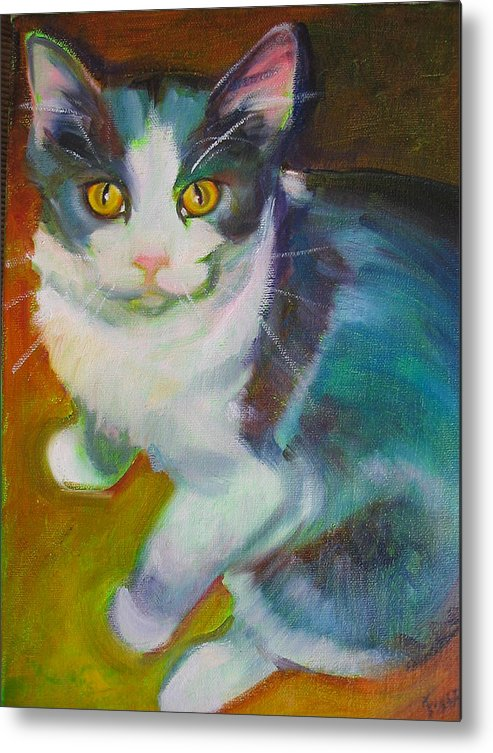 Pet Metal Print featuring the painting Buddy the Cat by Kaytee Esser