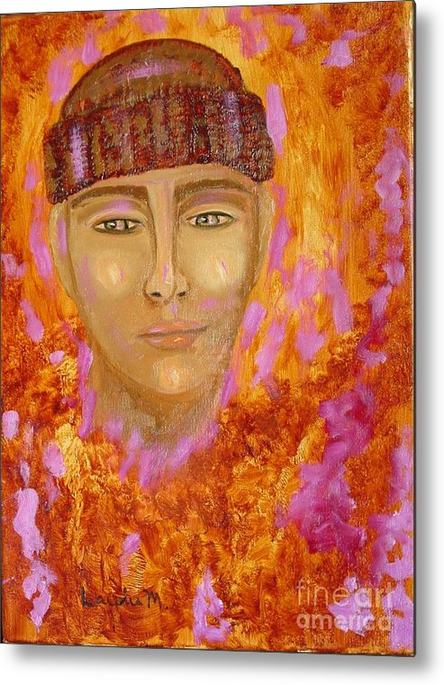 Portrait Metal Print featuring the painting Choices by Laurie Morgan