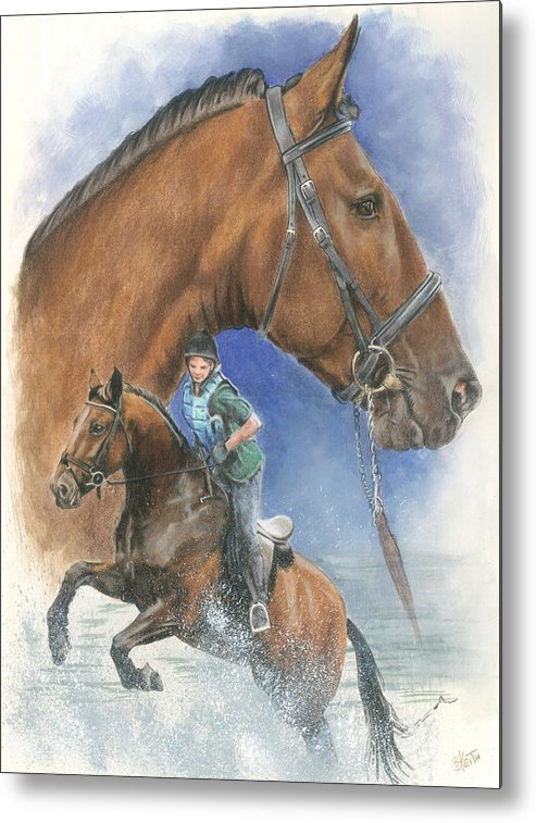 Hunter Jumper Metal Print featuring the mixed media Cleveland Bay by Barbara Keith