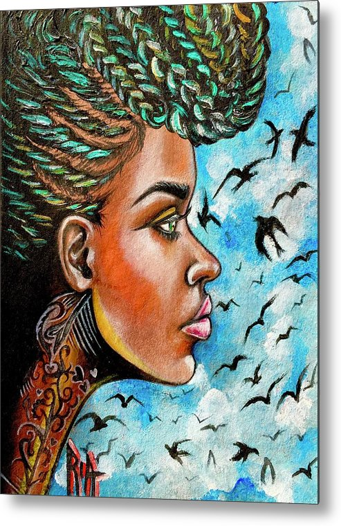 Ria Metal Print featuring the painting Crowned Royal by Artist RiA