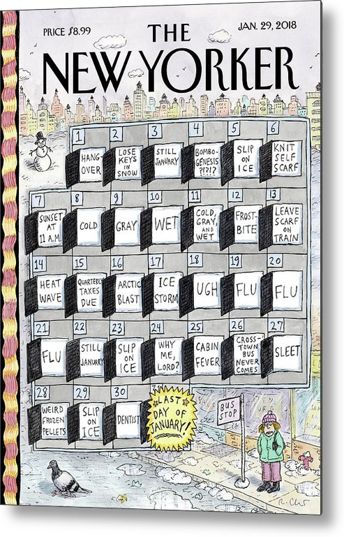 Cruellest Month Metal Print featuring the painting Cruellest Month by Roz Chast