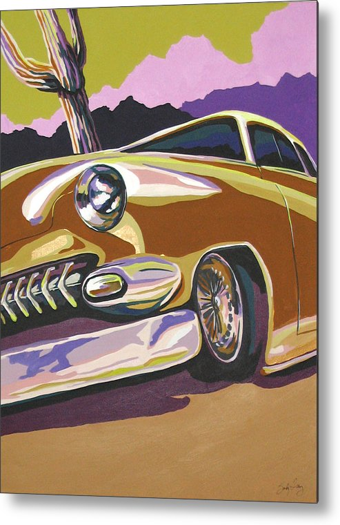 Route 66 Metal Print featuring the painting Cruisin by Sandy Tracey
