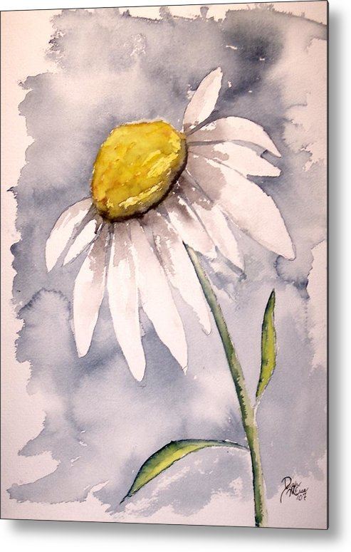 Daisy Metal Print featuring the painting Daisy Modern poster print fine art by Derek Mccrea