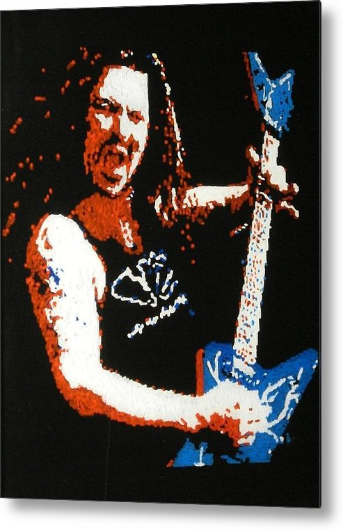 Pantera Metal Print featuring the painting Darrel Abbott by Grant Van Driest