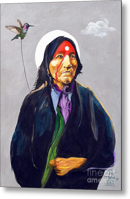 Shaman Metal Print featuring the painting Direct Connection by J W Baker