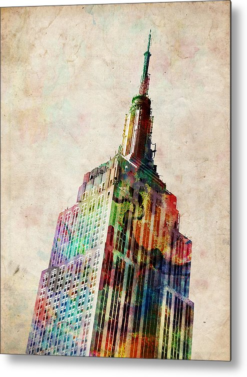Empire State Building Metal Print featuring the digital art Empire State Building by Michael Tompsett