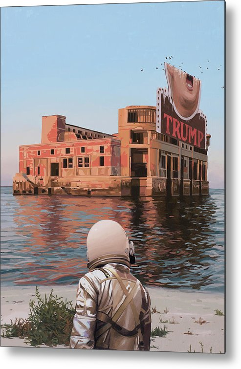 Astronaut Metal Print featuring the painting Empty Palace by Scott Listfield