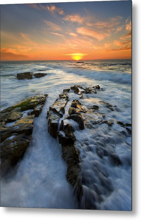 Sunset Metal Print featuring the photograph Engulfed by Mike Dawson