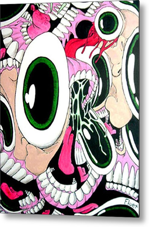 Drawing Metal Print featuring the painting Eye Sore by Dan Fluet