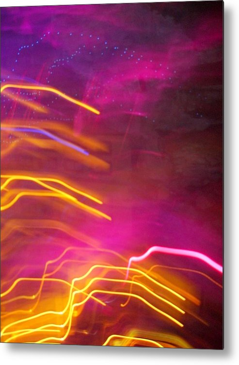 Abstract Metal Print featuring the photograph Fingers of Light by Lessandra Grimley