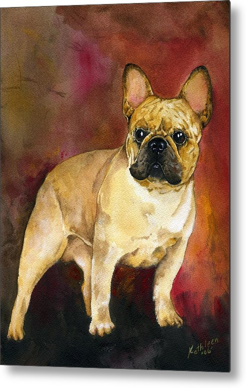 French Bulldog Metal Print featuring the painting French Bulldog by Kathleen Sepulveda