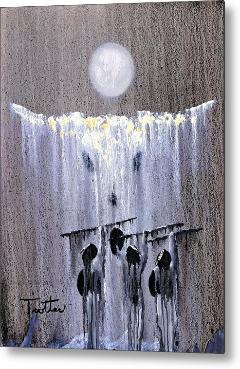 American Indian Metal Print featuring the painting Ghost Dance by Patrick Trotter