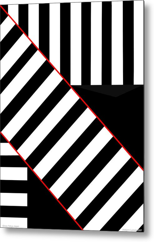 Metal Print featuring the digital art Ginza The Babel Legend by Asbjorn Lonvig
